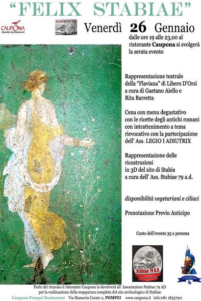Pompei eruzione del 79 d c sar realizzata una mappa for Ricette romane antiche