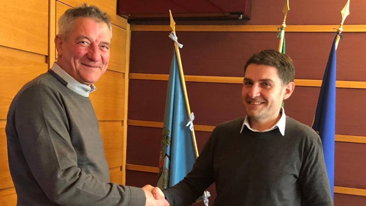 Il candidato sindaco Renzo Lillo (Casapulla al Centro) incassa l'appoggio di Giorgio Magliocca