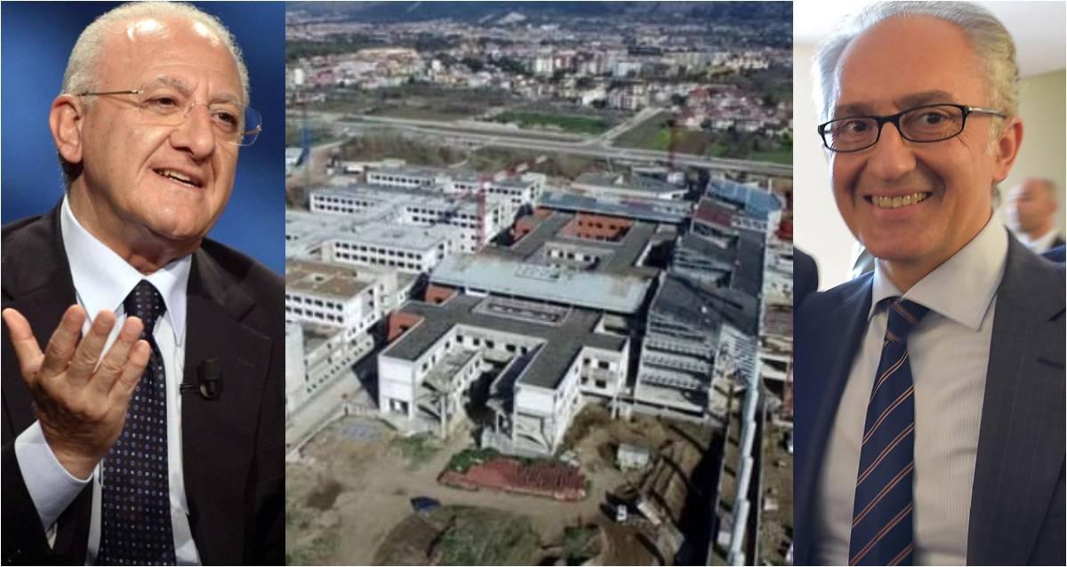 POLICLINICO CASERTA | De Luca in città per l'inaugurazione delle infrastrutture all'Area PIP