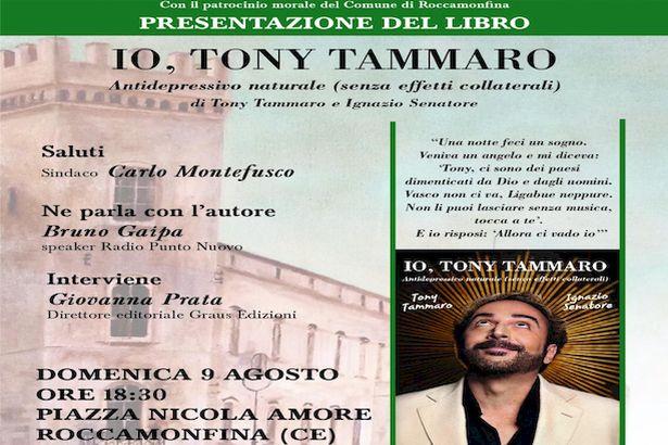 Roccamonfina. 'Antidepressivo naturale senza effetti collaterali': Tony Tammaro illustra la sua autobiografia